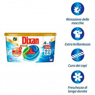 Dixan Discs Azione Igienizzante 4in1 Detersivo per Lavatrice - Confezione da 25 Capsule