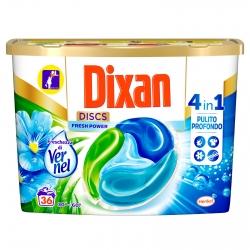 Dixan Discs Fresh Power 4in1 Detersivo per Lavatrice Freschezza Vernel - Confezione da 36 Capsule