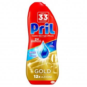 Pril Gold Gel Sciogli Grasso per Lavastoviglie - Flacone da 600 ml