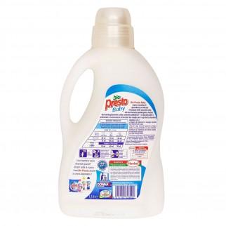 Bio Presto Baby Detersivo Liquido per Lavaggio a Mano o Lavatrice Ipoallergenico - Flacone da 1,5 Litri