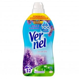 Vernel Ammorbidente Liquido Concentrato per Lavatrice con Profumo alla Lavanda - Flacone da 1,3 Litri