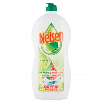 Nelsen Detersivo Liquido Sgrassante al Limone per Piatti - Flacone da 900ml
