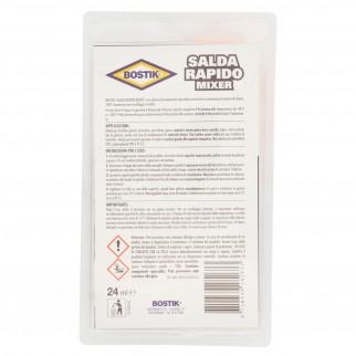 Bostik Salda Rapido Mixer Adesivo Epossidico con Stantuffo - Flacone da 24ml
