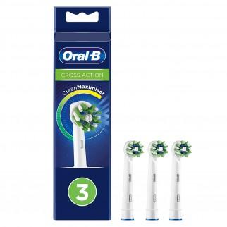 Oral-B CrossAction Testine di Ricambio per Spazzolino Elettrico - Confezione da 3 testine