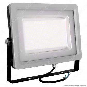 V-Tac VT-48100 Faretto LED SMD 100W Ultra Sottile da Esterno Colore Grigio e Nero