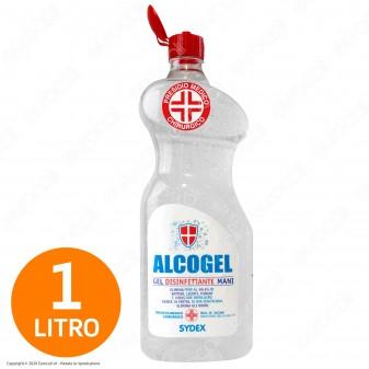 Gel Alcolico Disinfettante Mani Professionale Igienizzante Efficace Contro Germi Batteri e Virus - Flacone da 1 Litro