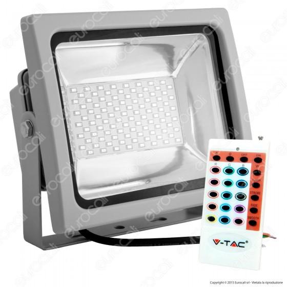 V-Tac VT-4752 RGB Multicolore Faretto LED 50W da Esterno con Telecomando