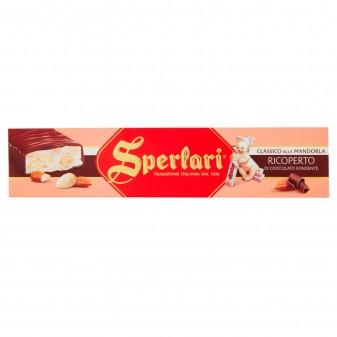 Sperlari Torrone Classico alla Mandorla Ricoperto di Cioccolato Fondente Senza Glutine da 250g