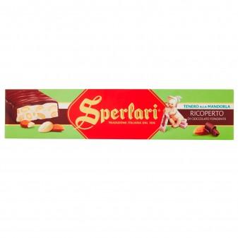 Sperlari Torrone Tenero alla Mandorla Ricoperto di Cioccolato Fondente Senza Glutine da 250g