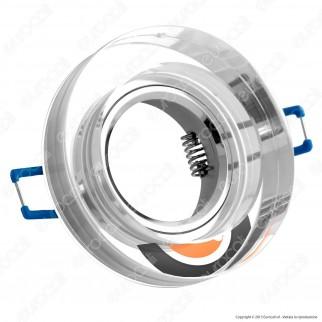 Kanlux MORTA B CT-DSO50-SR Portafaretto Rotondo da Incasso per Lampadine GU10 e GU5.3
