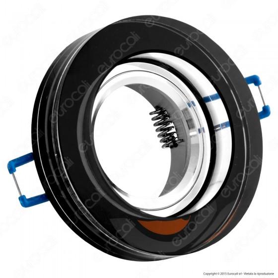 Kanlux MORTA B CT-DSO50-B Portafaretto Rotondo da Incasso per Lampadine GU10 e GU5.3