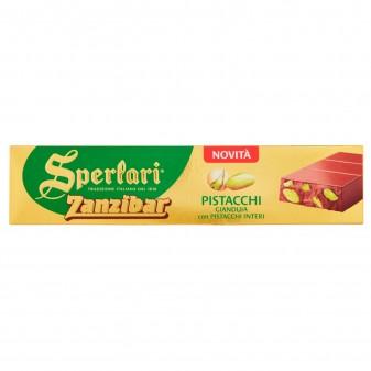 Sperlari Torrone Zanzibar Nocciolato Pistacchio con Gianduia e Pistacchi Interi Senza Glutine da 200g