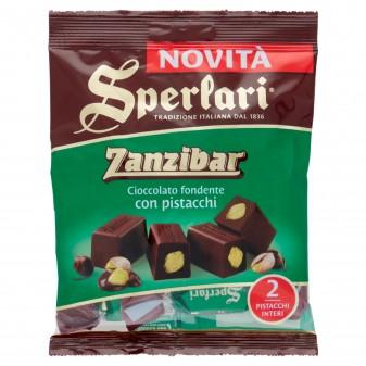 Sperlari Torroncini Zanzibar Cioccolato Fondente con Pistacchi Busta da 117g