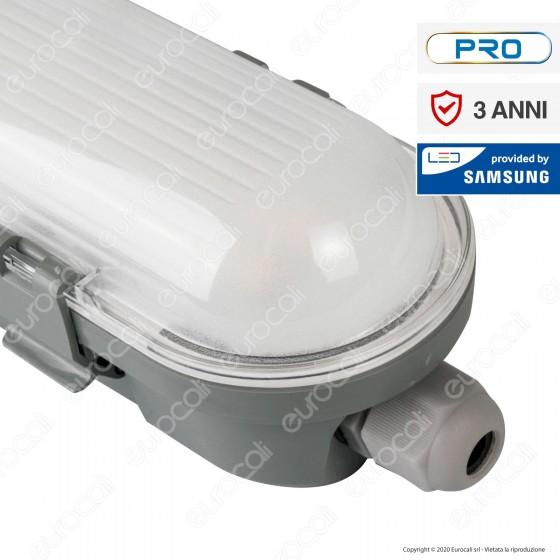 V-Tac Pro VT-60018 Tubo LED Plafoniera 18W Lampadina 600mm Impermeabile - SKU 20209 / 20208