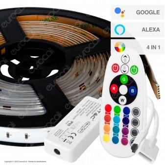 V-Tac VT-5050 Kit con Striscia LED VT-5050 4in1 Multicolore RGB+W 5mt Controller e Alimentatore - SKU 2628