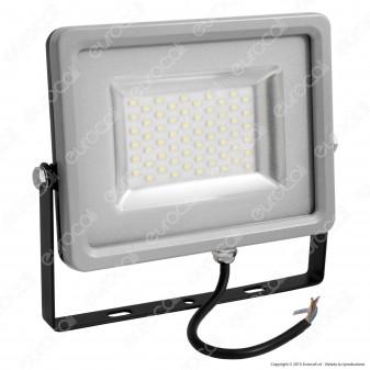 V-Tac VT-4830 Faretto LED SMD 30W Ultra Sottile da Esterno Colore Grigio e Nero
