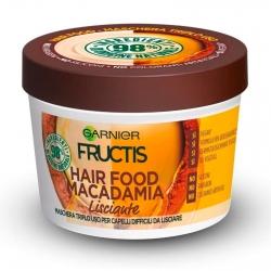 Garnier Fructis Maschera per Capelli Hair Food Macadamia Lisciante 3in1 - Barattolo da 390ml