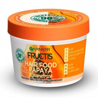 Garnier Fructis Maschera per Capelli Hair Food Papaya Riparatrice 3in1 - Barattolo da 390ml