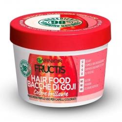 Garnier Fructis Maschera per Capelli Hair Food Colore Brillante Bacche di Goji 3in1 - Barattolo da 390ml