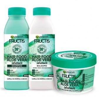 [EBAY] Garnier Shampoo + Balsamo + Maschera Fructis Hair Food, Kit con Shampoo, Balsamo e Maschera alla Aloe Ver