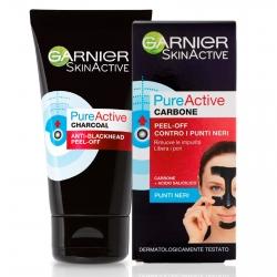 Garnier SkinActive Pure Active Maschera al Carbone Anti Punti Neri Intensive Peel Off - Tubetto da 50ml