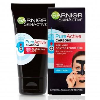 Garnier Skin Active Pure Active Maschera al Carbone Anti Punti Neri Intensive Peel Off - Tubetto da 50ml