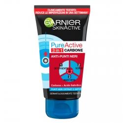 Garnier SkinActive Pure Active Trattamento 3in1 al Carbone Anti Punti Neri - Tubetto da 150ml