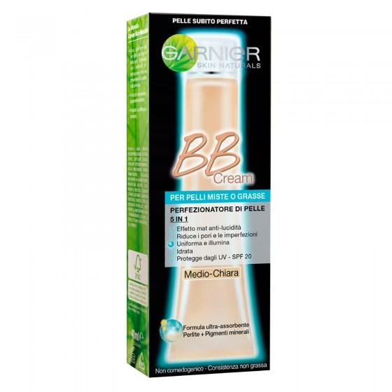 Garnier Skin Active BB Cream Perfezionatore di Pelle 5in1 Crema Viso Pelle Medio-Chiara - Tubetto da 40ml