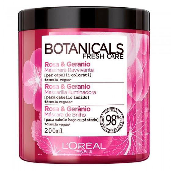 L'Oréal Paris Botanicals Fresh Care Maschera Ravvivante con Rosa e Geranio - Flacone da 400ml