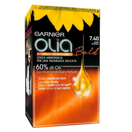 Garnier Olia Bold Tinta per Capelli 7.40 Rame Intenso Senza Ammoniaca
