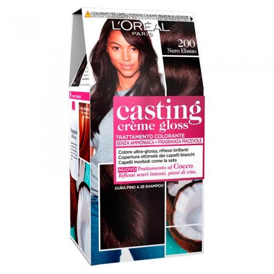 L'Oréal Casting Crème Gloss Tattamento Colorante 200 Nero Ebano Senza Ammoniaca