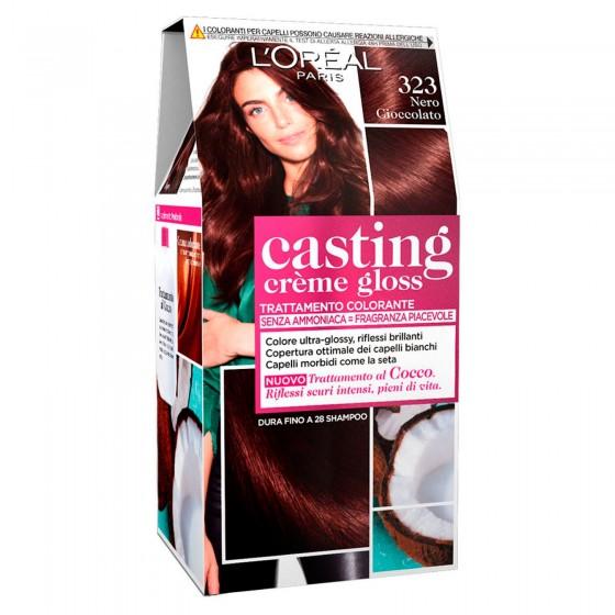 L'Oréal Casting Crème Gloss Tattamento Colorante 323 Nero Cioccolato Senza Ammoniaca