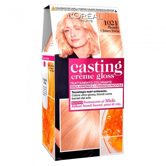 L'Oréal Casting Crème Gloss Tattamento Colorante 1021 Biondo Chiaro Perla Senza Ammoniaca