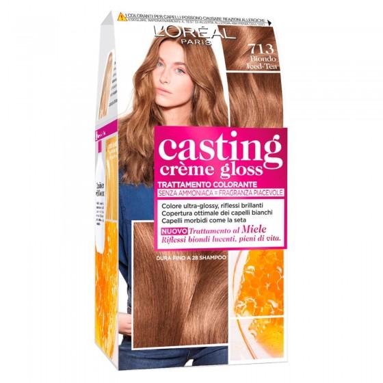 L'Oréal Casting Crème Gloss Tattamento Colorante 713 Biondo Ice Tea Senza Ammoniaca