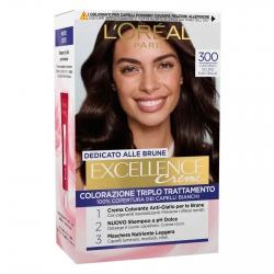 L'Oréal Paris Excellence Colorazione Permanente 300 Castano Naturale Scuro Triplo Trattamento