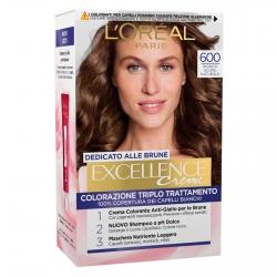L'Oréal Paris Excellence Colorazione Permanente 600 Biondo Naturale Scuro Triplo Trattamento