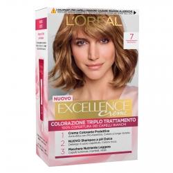 L'Oréal Paris Excellence Colorazione Permanente 7 Biondo Triplo Trattamento