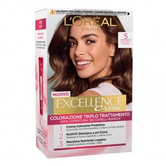 L'Oréal Paris Excellence Colorazione Permanente 5 Castano Chiaro Triplo Trattamento