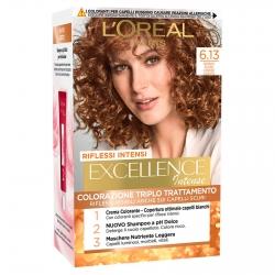 L'Oréal Paris Excellence Colorazione Permanente 6.13 Biondo Scuro Cenere Dorato Triplo Trattamento