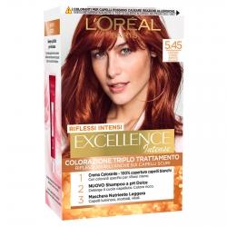 L'Oréal Paris Excellence Colorazione Permanente 5.45 Castano Chiaro Ramato Mogano Triplo Trattamento