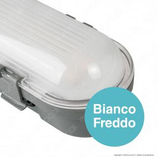 V-Tac VT-60018 Tubo LED Plafoniera M-Series 18W Lampadina 60cm Impermeabile IP65 - SKU 20211 / 20210