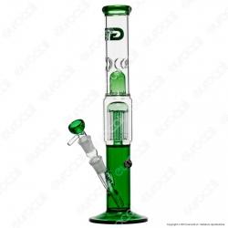 Bong Grace Glass Green Cane G331G in Vetro Lavorato - Altezza 39 cm