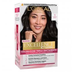 L'Oréal Paris Excellence Colorazione Permanente 1 Nero Triplo Trattamento
