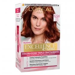 L'Oréal Paris Excellence Colorazione Permanente 6.54 Biondo Scuro Mogano Ramato Triplo Trattamento