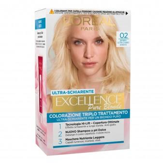 L'Oréal Paris Excellence Colorazione Permanente 02 Biondo Ultra Chiaro Dorato Triplo Trattamento