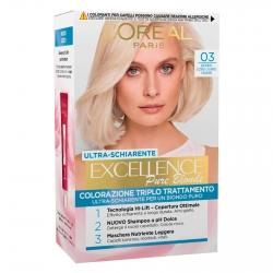 L'Oréal Paris Excellence Colorazione Permanente 03 Biondo Ultra Chiaro Cenere Triplo Trattamento