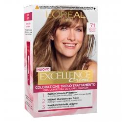 L'Oréal Paris Excellence Colorazione Permanente 7.1 Biondo Cenere Triplo Trattamento