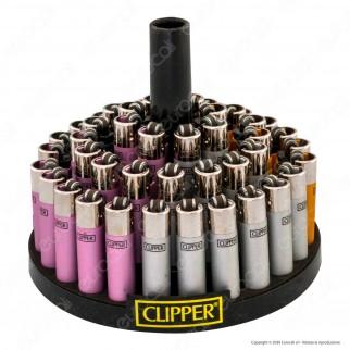 Clipper Micro Fantasia Painted 2 Metallic Gradient - Box da 48 Accendini
