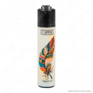 Clipper Micro Fantasia Feathers - Box da 48 Accendini