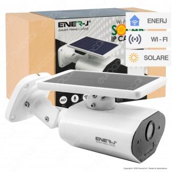 Ener-J Solar IP Camera Wi-Fi Telecamera di Sorveglianza a Batteria con Pannello Solare e Sensore 2MP 1020p IP65 - mod. IPC1024